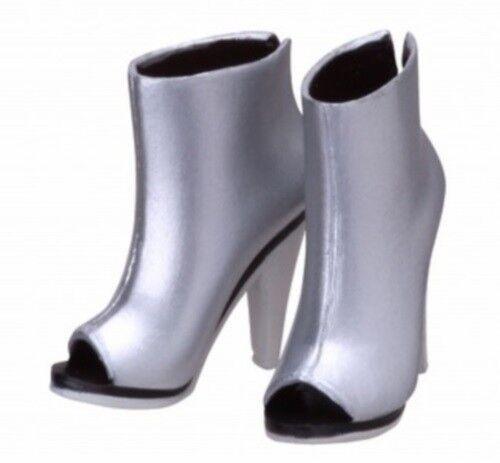 Sekiguchi Silver Open-Toe Ankle Boots for momoko in US