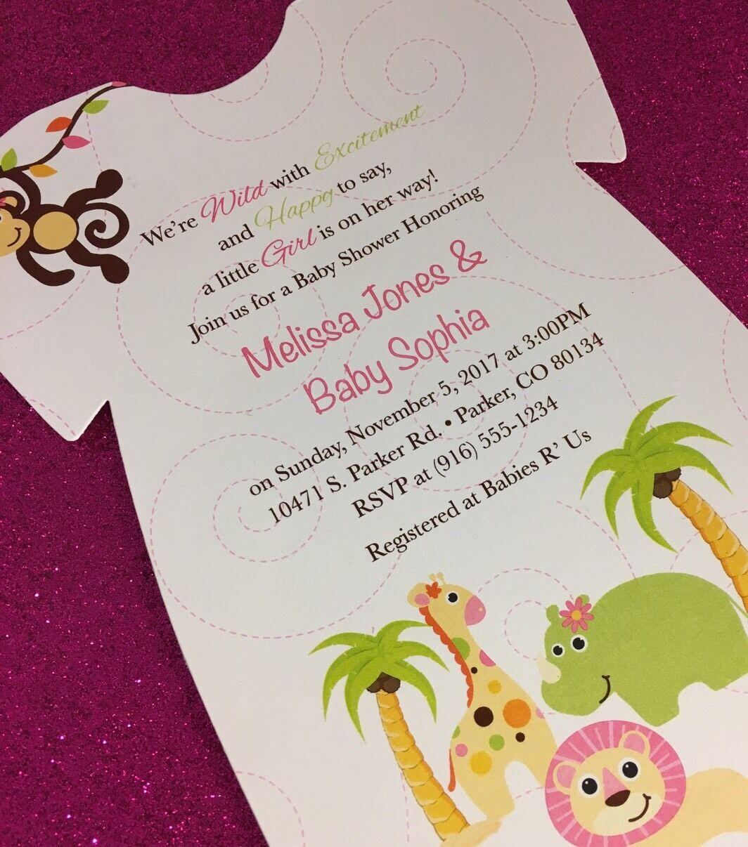 Shirt Baby Shower Invitations