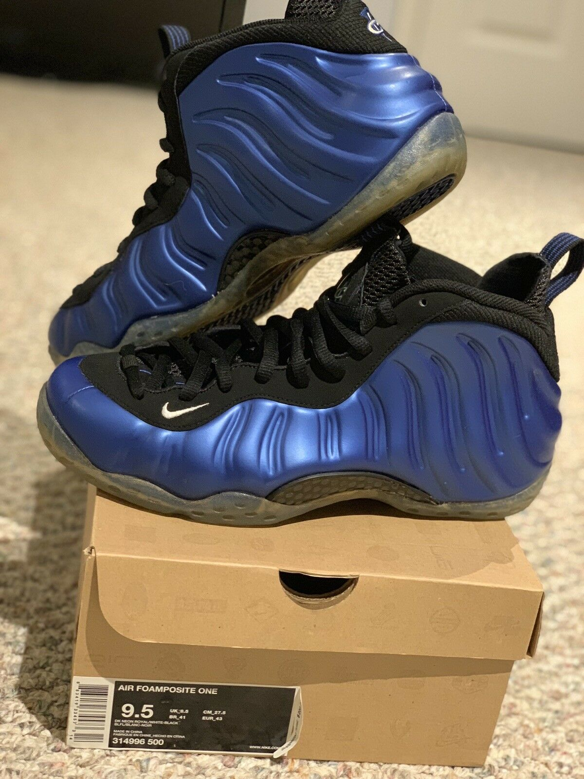 2011 Nike AIR FOAMPOSITE ONE  ROYAL blueE Sz 9.5