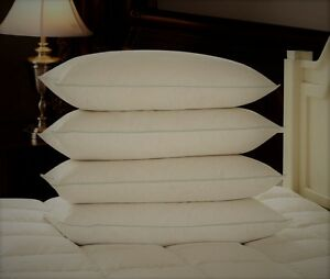 FOUR-PACK-EXTRA-FILLED-DELUXE-SUPER-BOUNCE-BACK-PILLOWS-4-BEDDING-SET-2-PAIRS