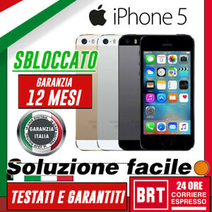 SMARTPHONE-APPLE-IPHONE-5-5G-16GB-32GB-64GB-SBLOCCATO-ORIGINALE-12-MESI-GARANZIA