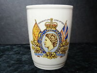 Commemorative China Beaker - 1953 Queen Elizabeth II Coronation with Kent Crest.