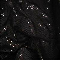 BLACK 3mm Sequin fabric shiny sparkly material sold by metre fancy dress prom