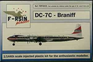 F-RSIN Models 1/144 DOUGLAS DC-7C Braniff Airlines