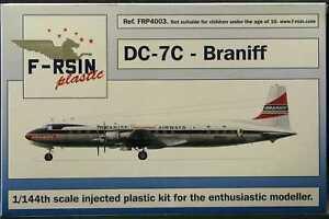 F-RSIN Models 1/144 DOUGLAS DC-7C Braniff Airlines