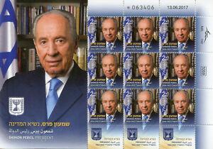 Prix Pas Cher Israël 2017 Neuf Sans Charnière Shimon Peres 9 V M/s Politiciens Présidents Timbres Les Consommateurs D'Abord