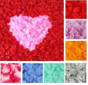 100-500-2000pcs-Soie-fleur-rose-Petales-de-Fiancailles-Mariage-Decoration-Confettis