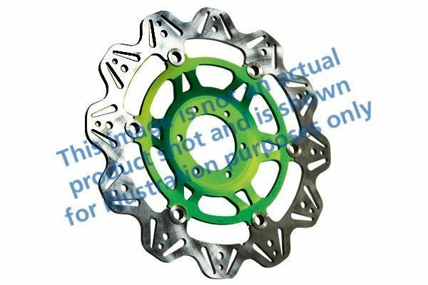 Para Kawasaki ZXR 750 M1/M2/L1-L3 93>95 EBC VR Freno Disco Verde Hub Frente