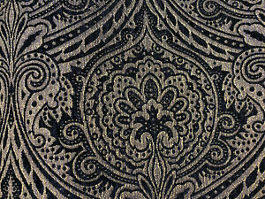 Medellin-Damask-Black-Gold-Upholstery-Fabric-By-The-Yard