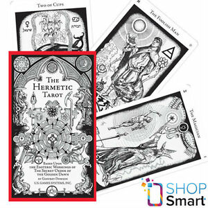 Details about HERMETIC TAROT DECK CARDS ESOTERIC TELLING WHITE BLACK US  GAMES SYSTEMS