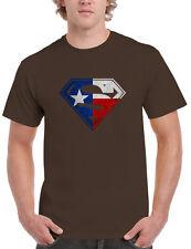 Texas Flag in Superman Logo Mens T-shirt, Lone Star Longhorns Dallas Cowboys
