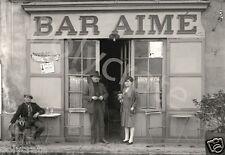 Photo ancien commerce de Toulouse Café bistro Bar Aimé- tirage repro an. 1920
