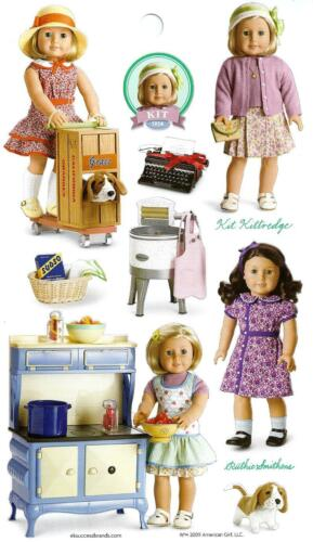 PARTY FAVORS~GIFT BAGS~STOCKING STUFFER! AMERICAN GIRL KIT~RUTHIE STICKERS