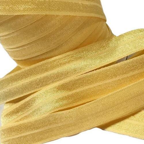 """10 yard daffodil yellow 5//8/"""" fold over elastic FOE DIY baby headbands /& hair tie"""