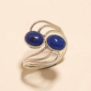 Image is loading Natural-Afghan-Lapis-Lazuli-Ring-925-Sterling-Silver-