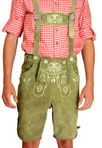 uk billig verkaufen Ausverkauf gutes Geschäft Trachten Lederhose kurz Herren Lederhosen grün Adler Gr. 48 ...