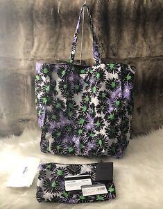 826bf4d6d9ed Image is loading NWT-Authentic-PRADA-Floral-Print-reversible-Nylon-Shopper-