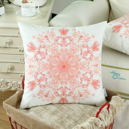 """Pack of 2 Pillow Case Cushion Cover Shell Couch Mandala Snowflake Floral 20X20/"""""""