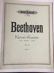 pauer . Beethoven : Klavier-konzert G Dur Sol Majeur G Major Opus 58.