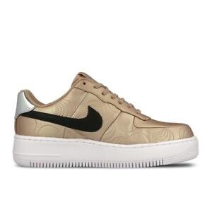 dc6554bd Womens NIKE AF1 UPSTEP LOTC QS Gold Synthetic Trainers 874141900 | eBay