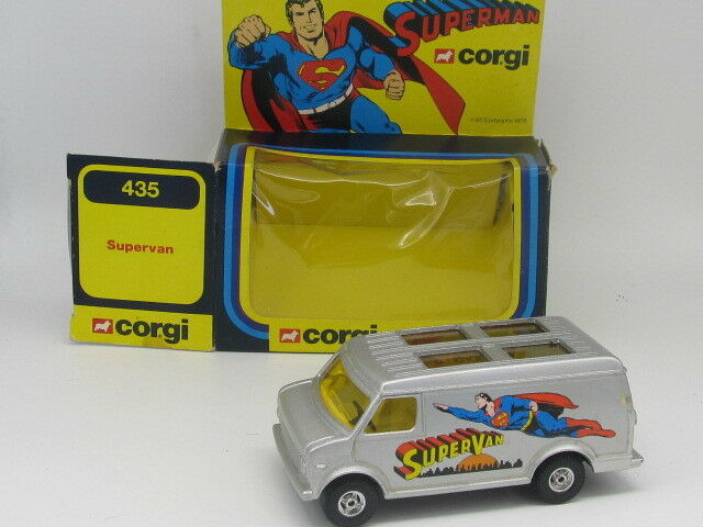 CORGI 435 SUPERMAN CHEVROLET SUPERVAN with opening Rear doors ALL ORIGINAL