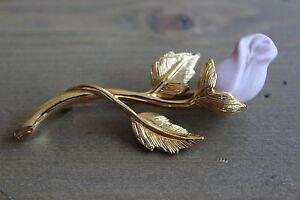 Vintage-Avon-Pink-Gold-Tone-Rose-Brooch