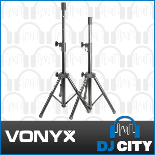1 of 1 - Vonyx COMPACT SPEAKER STANDS PAIR 35mm 20Kg PA Professional DJ Stage 180553