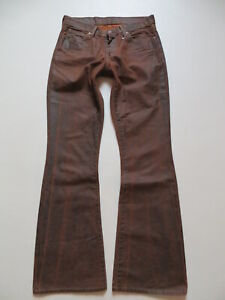 Levi's 529 Bootcut Jeans Hose W 30 /L 34, Vintage Biker Leder- Look-Denim, RAR !