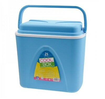 Borsa Termica Di Raffreddamento Cool Box-blu - 24 Litri-con Maniglia Per Il Trasporto E Open/lock-funzione-tion It-it