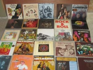 Lot of 25 LP Record Albums Look! Mostly Classic Rock, Rock & Roll and Pop!
