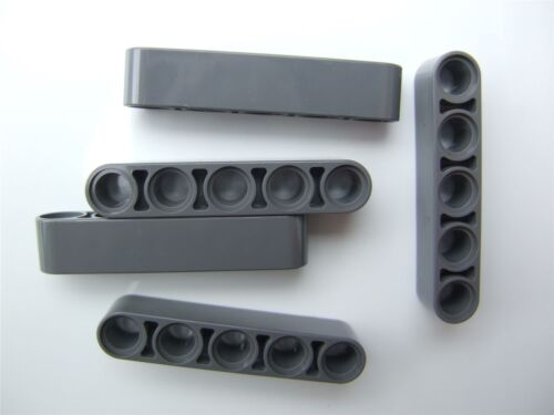4210686 5 x Lego Grey Technic 5M beam Parts /& Pieces