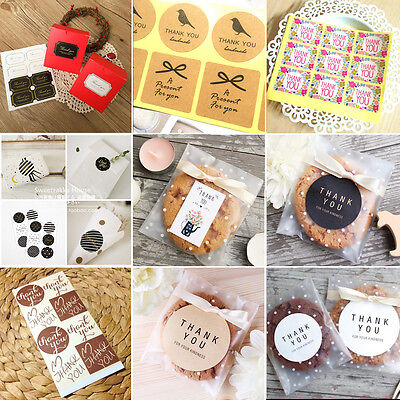 """US 50pcs 8/""""*5.5/"""" Halloween Chocolate Candy Cookie Bags Party Gift With Ribbon"""