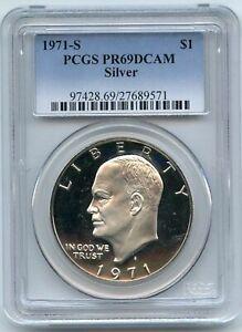 1971-S Silver Ike Eisenhower Dollar Proof PCGS PR69DCAM