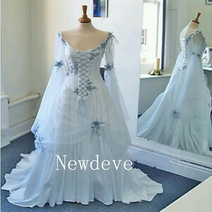 Image Is Loading Celtic Wedding Dresses Meval Bridal Gowns Corset Bell