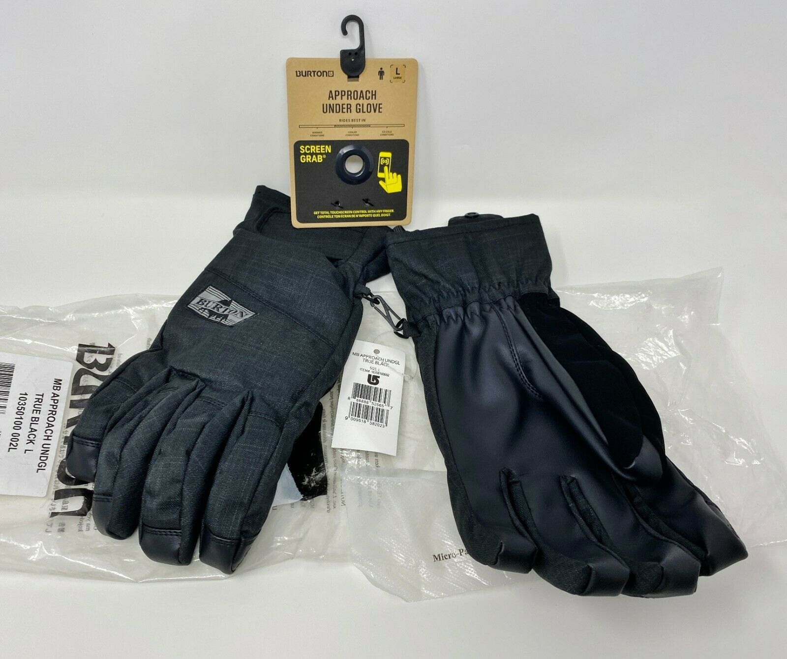 Burton Mens Insulated Bitters//Sparrow and Waterproof Profile Under Mitten with Touchscreen Large Warm
