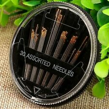30Pcs Embroidery Hand Needles with Case for Quilt Mending Sewing Craft Tool New