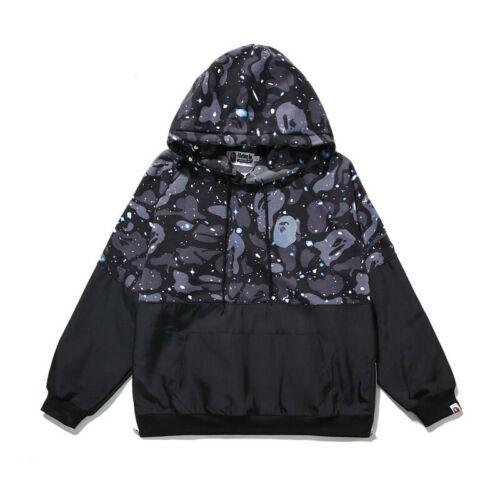 Bape APE Homme Pull à Capuche Camouflage shirt Tops Vêtements lumineux ciel étoilé