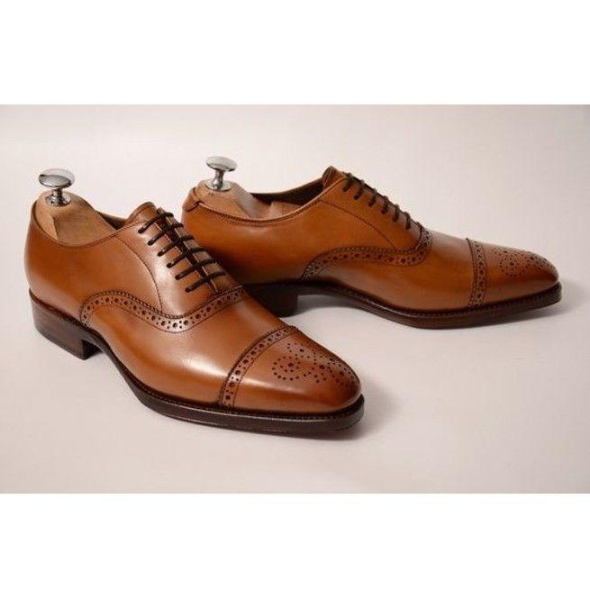 Zapatos de vestir Zapato Oxford, Bronceado Puntera Zapatos, de oficina, Puntera Zapatos Formales