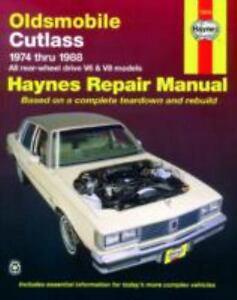 haynes repair manual oldsmobile cutlass 1974 1988 ll rear wheel rh ebay com 1999 oldsmobile cutlass owner's manual 1999 oldsmobile cutlass repair manual pdf