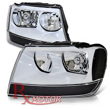 99-04 Jeep Grand Cherokee Headlights Retrofit Made 1999 2000 2001 2002 2003 2004