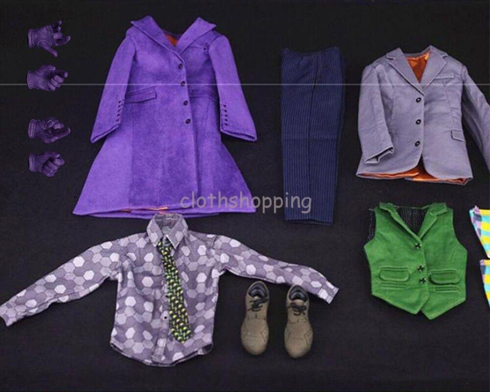 Échelle 1 6 Batman Joker Vêtements Costume Accessoires Set DX01 DX11 B001 Figure Body