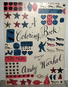 A Coloring Book Drawings By Andy Warhol + Matching Envelope Flyer ...