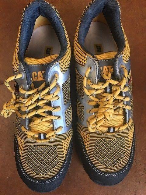 Nuevo Caterpillar CAT Para Hombre tuffnet facilidad de punto Composite Toe, Amarillo 9 M-Envío Gratis