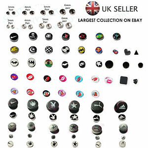 Non Piercing Clip On Magnetic Magnet Ear Stud Mens Womens Fake