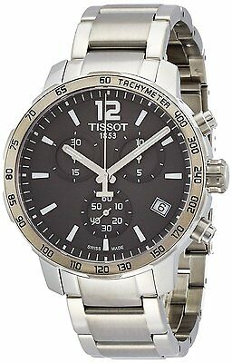 New Tissot Quickster Anthracite Dial Chronograph Men's Watch T0954171106700