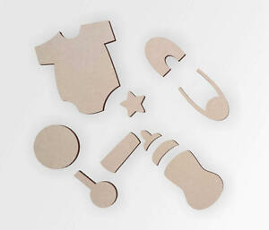 Wooden Baby Shapes | Wood Nursery Decor | Baby Shower Decor | Cutout | Home