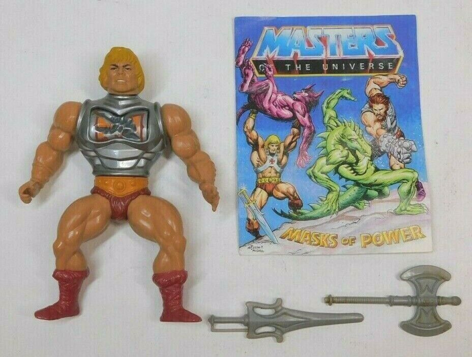 Masters Of The Universe Battle Armor He-man Variante Cabeza Dura MEXICO COMPLETE