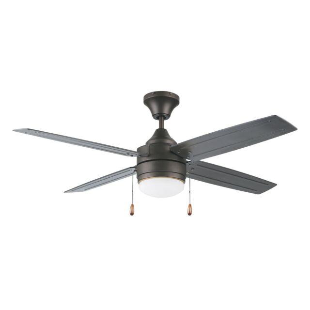 Harbor Breeze 32 Oil Rubbed Bronze Led Ceiling Fan W Light Kit 4 Blade For Sale Online Ebay
