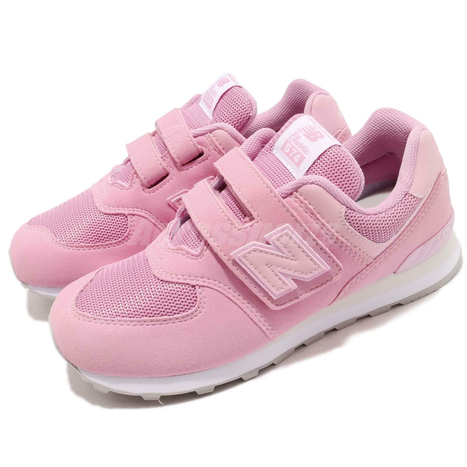new styles 49cd5 fbf1e New Balance YV574TD W Wide Pink blanc Kid Youth Junior Chaussures Sneakers  YV574TDW