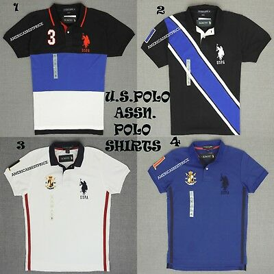 Mens Slim Fit Solid Long Sleeve Sport Shirt Polo Assn U.S
